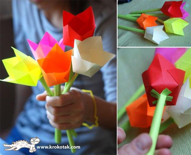 Цветок маме своими руками из бумаги